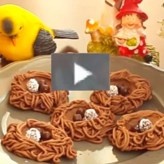 Kuş yuvası kurabiye tarifi