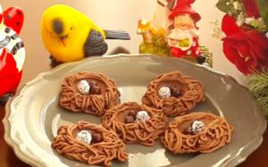 Kuş yuvası kurabiye