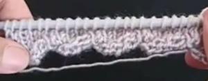 Kıvrımlı örgüye başlama tekniği