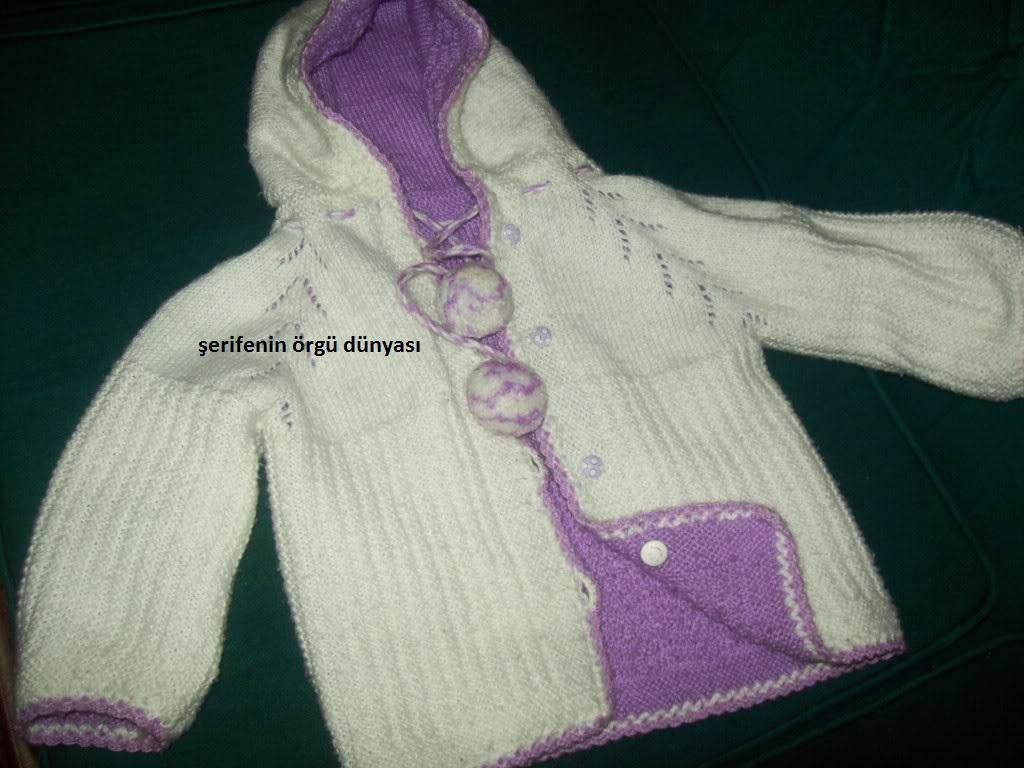 Kapşonlu Bebek Hırkaları