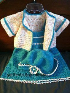 1bcdd0fac1582 mavi-orgu-kiz-bebek-elbise-modeli – Serifenin Örgü Dünyası