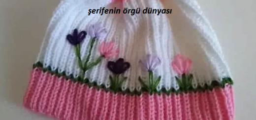 selanik-orgu-bebek-sapkasi-modeli