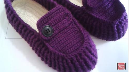 Çiçekli Babet Patik Yapılışı Türkçe Anlatımlı Videolu