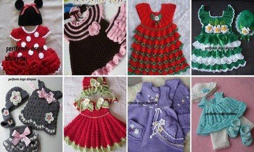 en şirin kız bebek elbise modelleri