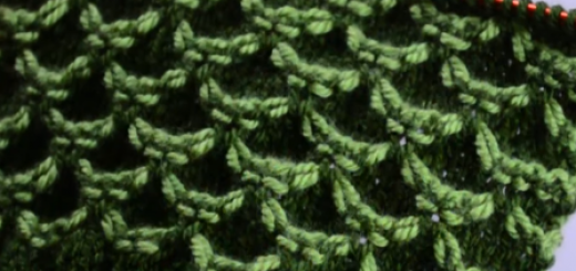 iki renkli dalgalı örgü modeli