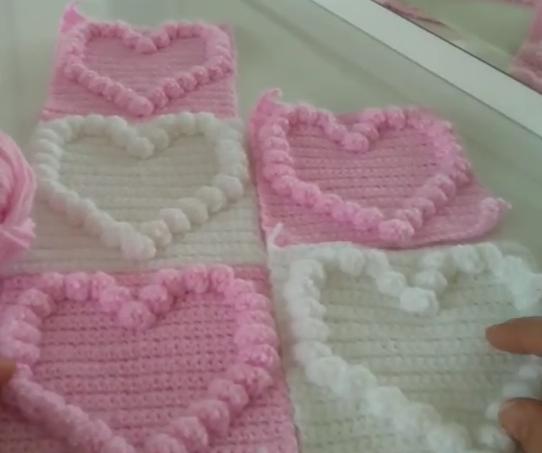 kalpli popcorn bebek battaniye modeli