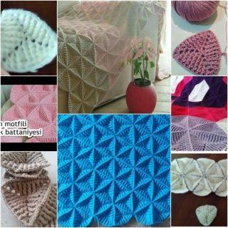 üçgen mozaik battaniye modeli