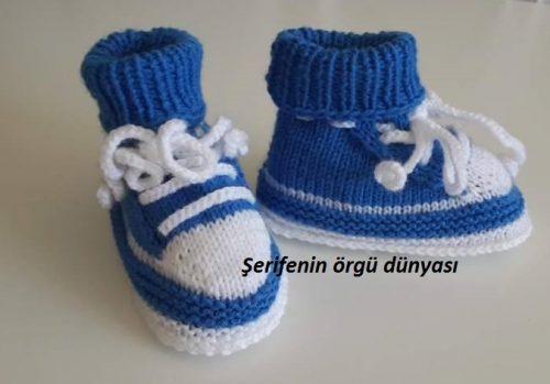 iki renkli erkek bebek botu modeli (5)