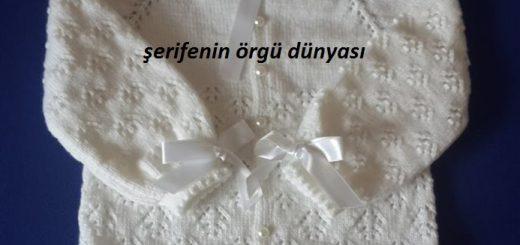 kelebekli robalı kız bebek hırka modeli (2)