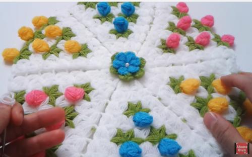 3 boyutlu çiçekli lif modeli