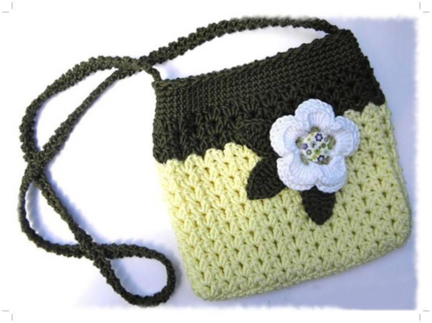 Вязаная спицами сумочка для девочки своими руками 97