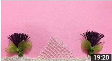 süpürgeli iğne oyası havlu ve namaz örtüsü modeli