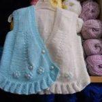yeni bebek örgü yelek modelleri (99)