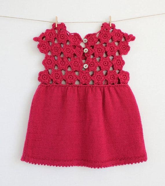 Örgü Çocuk Elbisesi Modelleri
