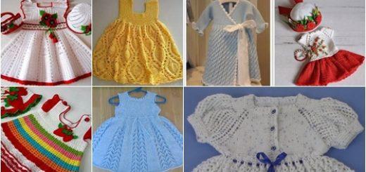 örgü kız çocuk elbise modelleri68