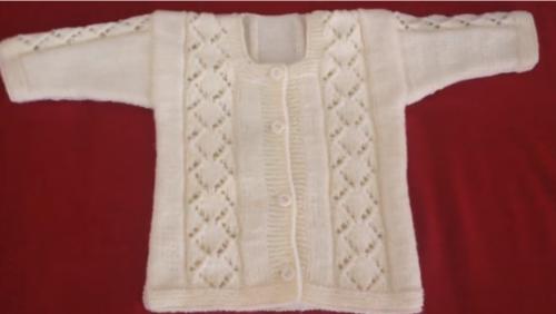 baklava dilimli bebek hırkası yapımı