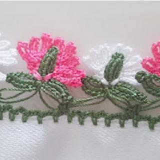 göbekli çiçekler tığ oyası yapımı