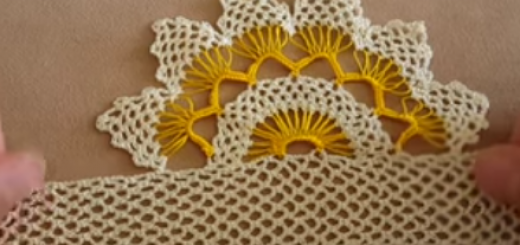 iğne oyası görünümünde pike-havlu-çarşaf danteli