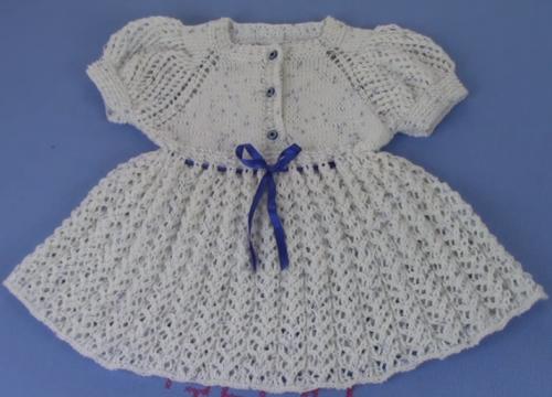 karpuz kollu yazlık çocuk elbise modeli