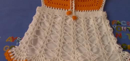 altı kumaş tığ işi kız bebek elbise yapımı