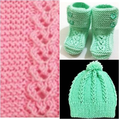 bağlı kalpler modeli ile bebek şapka ve patik yapımı