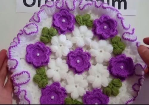 fırfırlı çiçekli lif yapımı