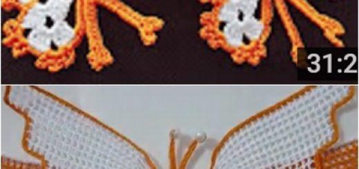 kelebekl havlu modeli