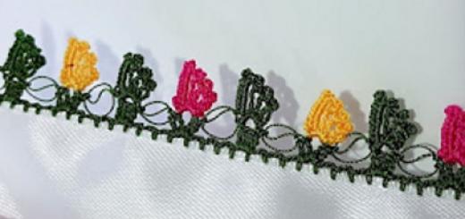 renk renk yapraklar tığ oyası yapımı