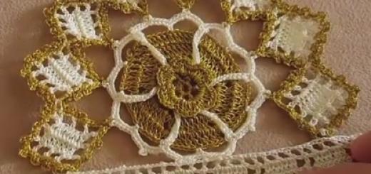 simli dantel havlu kenarı modeli
