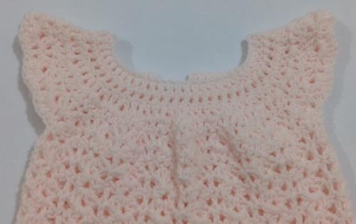 tığ işi kolay bebek elbisesi yapımı