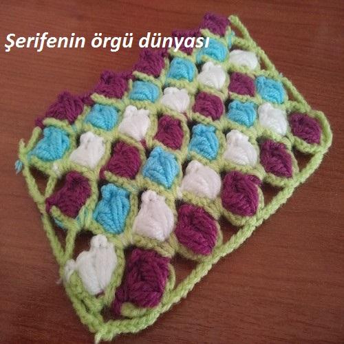 renkli lale bahçesi lif ve bebek battaniyesi modeli (1)