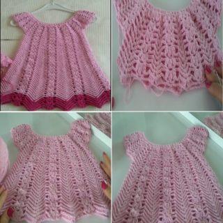 tığ işi yazlık bluz veya elbise yapımı-tile6