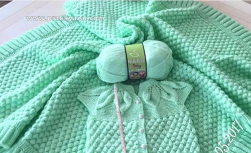 bonbon şekeri modeli ile yapılan bebek battaniyesi