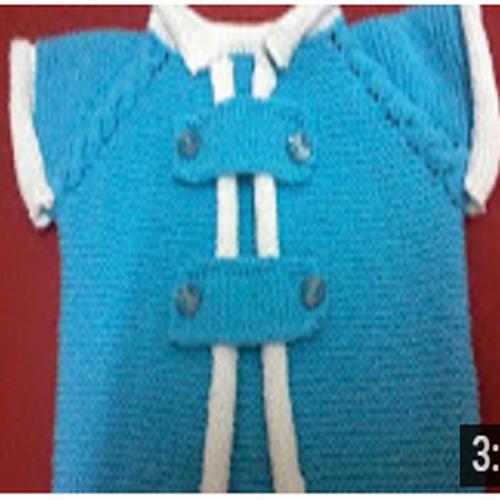 mavi renkli erkek bebek yeleği