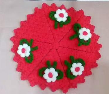 fiyonk çiçekli yuvarlak lif modeli