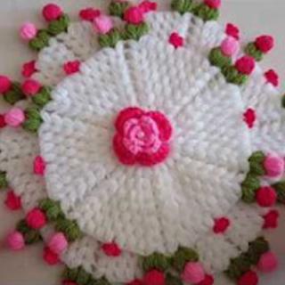 iki katlı çiçekli lif yapımı