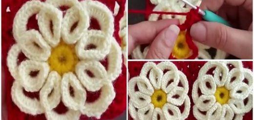 kıvrımlı kabartma güllü battaniye motifi.png6