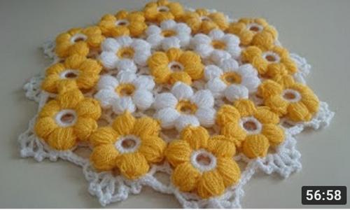 papatya çiçekli lif yapımı