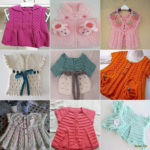 şirine kız bebek yelek modelleri 70