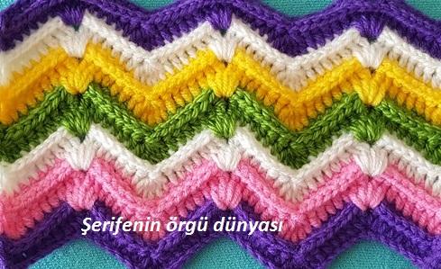 kabartmalı zikzak battaniye modeli (10)