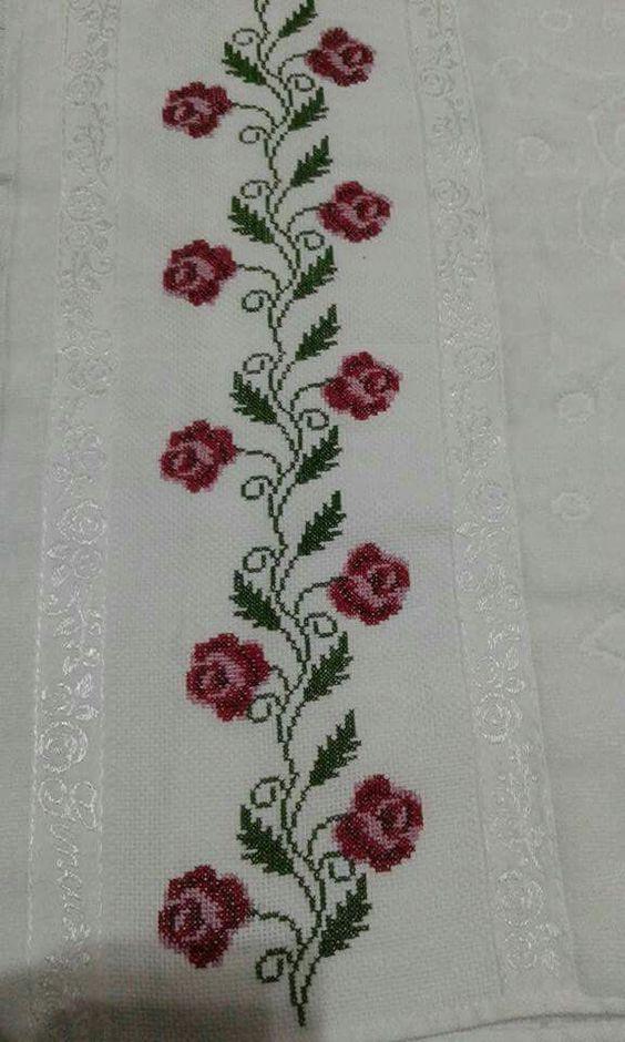 kanaviçe işlenmiş havlu örnekleri (7)