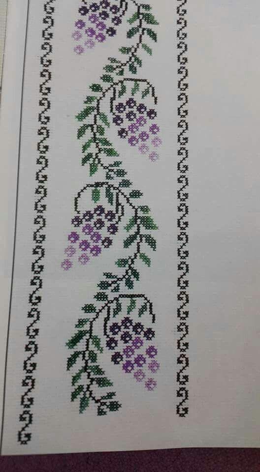 kanaviçe işlenmiş havlu örnekleri (14)