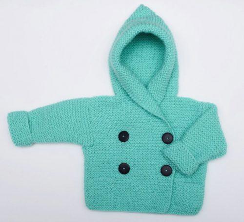 kapüşonlu bebek yelek ve hırkası (1)