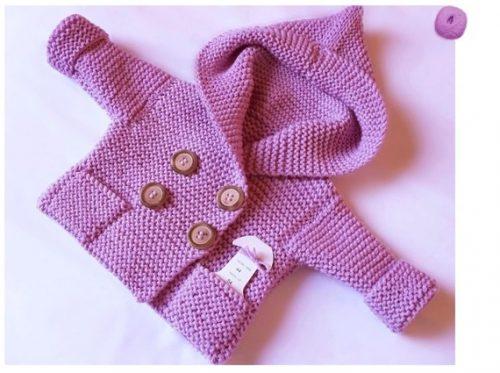 kapüşonlu bebek yelek ve hırkası (2)