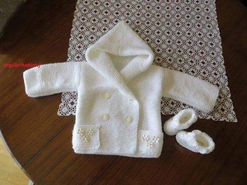 kapüşonlu bebek yelek ve hırkası (3)