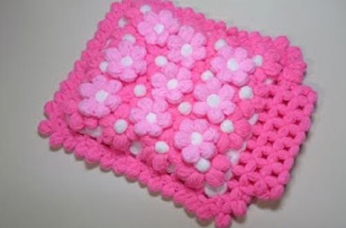puf çiçekli kese lif yapımı