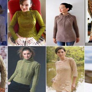 yılın modası örgü bayan kazak modelleri (191