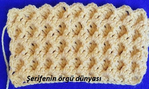 Kabartmalı battaniye ve bebek örgüsü modeli (8)