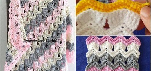 afgan işi bebek battaniyesi modeli (13