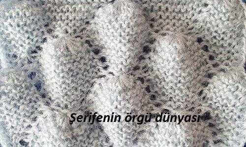 haroşalı kabartmalı bademler örgü modeli (10)